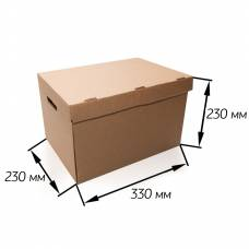 Архивный короб с откидной крышкой 330*230*230 мм