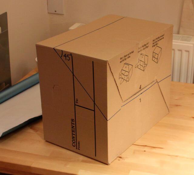 Делаем лайтбокс своими из картонной коробки